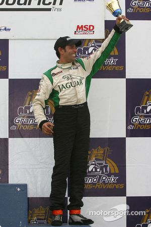 The podium: Tomy Drissi
