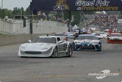 Cars leave for pace lap: Scott Pruett
