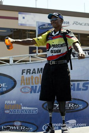 Le pilote Pro Stock Bike Reggie Showers