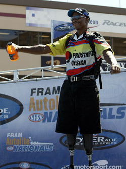 Le pilote Pro Stock Bike Reggie Showers