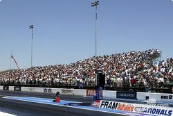 Fans crowd the grandstand at Infineon Raceway