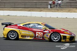 la Ferrari 360 Modena n°29 de l'équipe JMB Racing USA/Team Ferrari pilotée par Andrea Garbagnati, Ludovico Manfredi