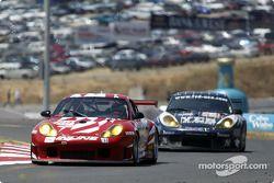 la Porsche 911 GT3RS n°89 de l'équipe Inline Cunningham Racing pilotée par Scott Bader, Oswaldo Negr