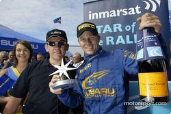 Petter Solberg gagne le Immarsat Star award du Rallye de Finlande