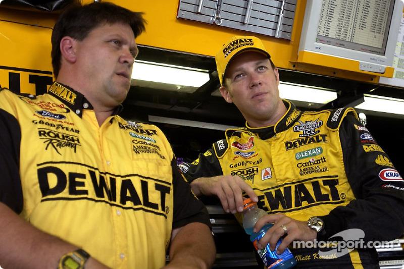 Matt Kenseth chats with crew chief Robbie Reiser