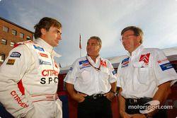Carlos Sainz, Jean-Claude Vaucard y Guy Fréquelin