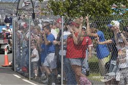 Fans Wait for their driver