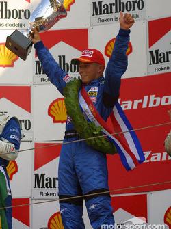 The podium: race winner Christian Klien