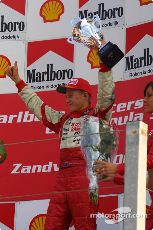The podium: Ryan Briscoe