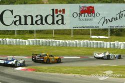 l'Audi R8 n°38 (Champion Racing) pilotée par J.J. Lehto, Johnny Herbert, la Chevrolet Corvette C5-R
