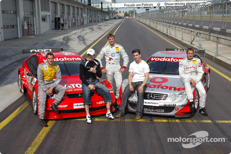 DTM vs boxing event: Danny Green, Martin Tomczyk, Markus Beyer and Bernd Schneider