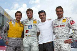 DTM vs Boxen: Timo Scheider, Martin Tomczyk, Markus Beyer und Bernd Schneider