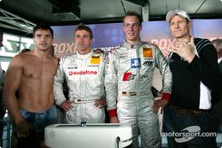 DTM vs Boxen: Markus Beyer, Bernd Schneider, Peter Terting und Danny Green