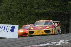 La Ferrari 360 Modena n°28 de l'équipe JMB Racing USA / Team Ferrari pilotée par Stephan Gregoire, E