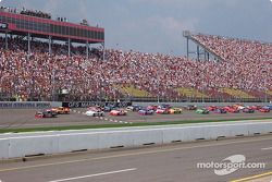 The start: Kasey Kahne leads the field