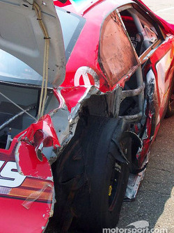 Jeremy Mayfield's wreck during practice
