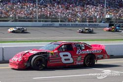 Dale Earnhardt Jr.'s damage after tangling with Rusty Wallace