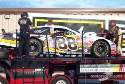 Post-race dyno check for Dale Jarrett's car