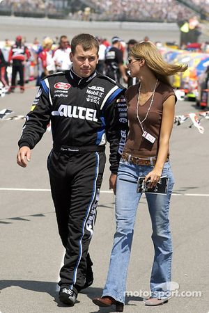 Ryan Newman with his girlfriend