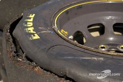 Worn Good Year tire