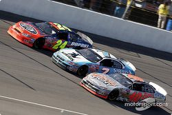 Jeff Gordon, Jimmy Spencer and Sterling Marlin