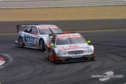 Bernd Schneider, Team HWA, AMG-Mercedes CLK-DTM 2003 und Christijan Albers, Team HWA, AMG-Mercedes C