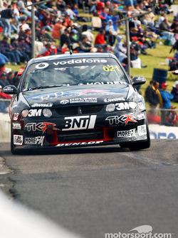 Team Kiwiís Craig Baird on pit straight
