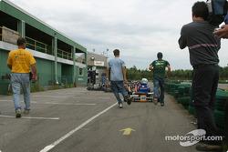Rocketsports-Tagliani karting event: Alex Tagliani heads to track