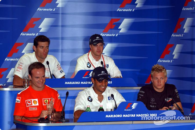 Conferencia de prensa FIA jueves: Rubens Barrichello, Montoya y Ralf Schumacher, Kimi Raikkonen, Mark Webber