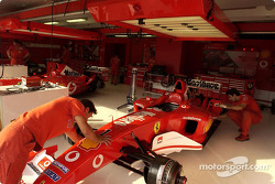 Ferrari garage area