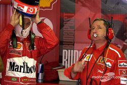 Rubens Barrichello ve Jean Todt