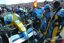 Fernando Alonso on starting grid