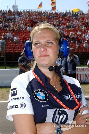 Williams-BMW aerodynamist Antonia Terzi