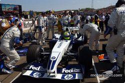 Ralf Schumacher sur la grille de départ