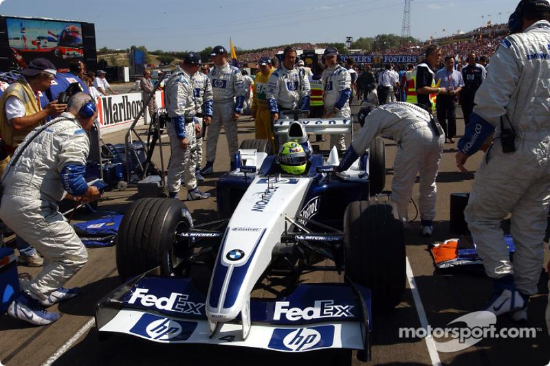 Ralf Schumacher en la parilla de salida