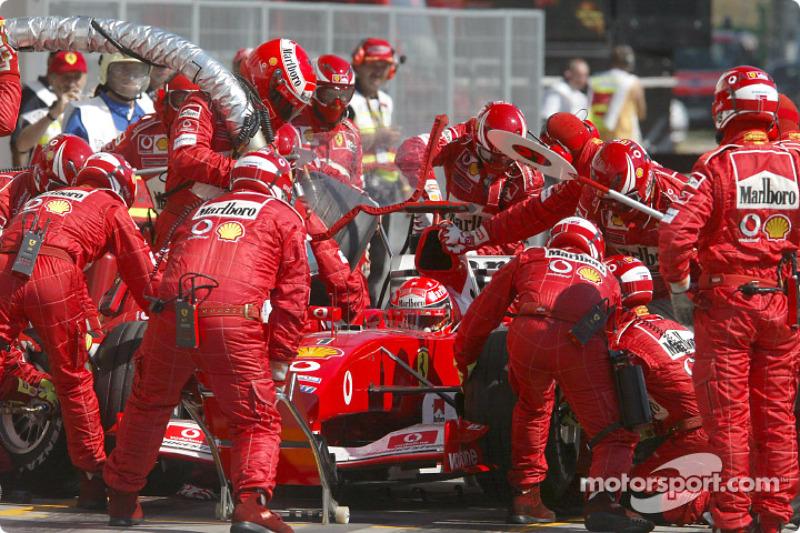 Peor resultado de Schumacher en sus primeros seis años de mundial: