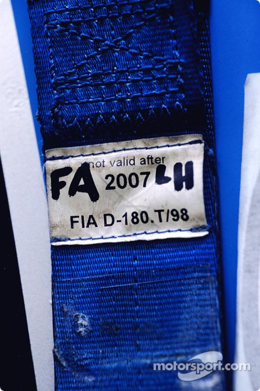 Detalle de un cinturón de seguridad