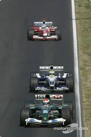 Justin Wilson devant Ralf Schumacher