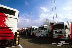 Toyota paddock área