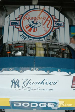 The Yankees sponsor the Christian Fittipaldi car