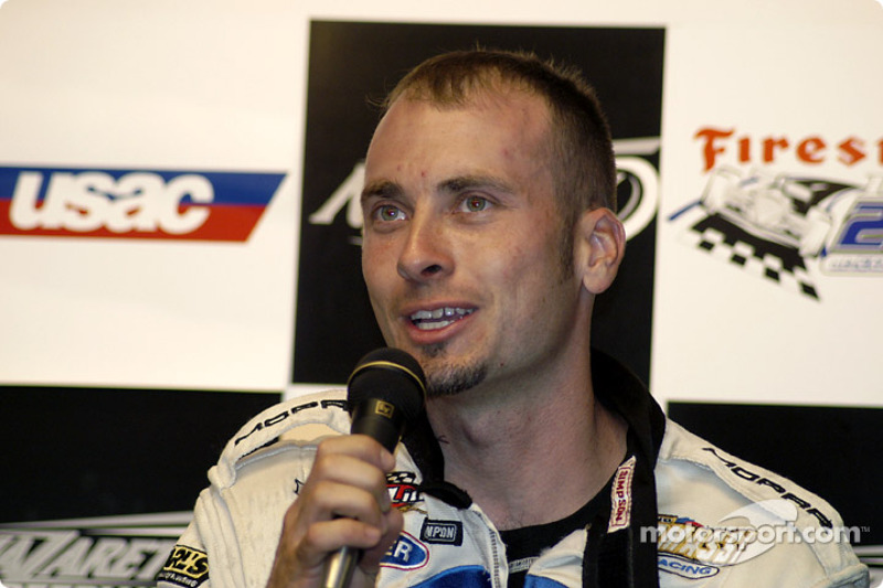 Dave Steele, front row press conference
