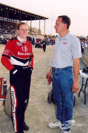 Erin Crocker with car owner Mike Woodring