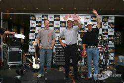 Trans-Am drivers presentation in Denver: Bobby Sak, Johnny Miller and Scott Pruett