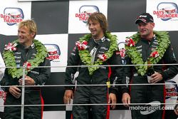 Podium: race winners Jos Verstappen and singer Jay Kay
