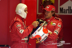 Rubens Barrichello and Luca Badoer