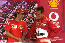 Luca Badoer y Michael Schumacher
