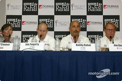 Press conference: Vicky O'Connor, Jon Fogarty, Bobby Rahal and Jim Gerken