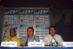 Pressekonferenz im Palais Ferstel, Wien: Karl Wendlinger, Marcel Fässler and Manuel Reuter
