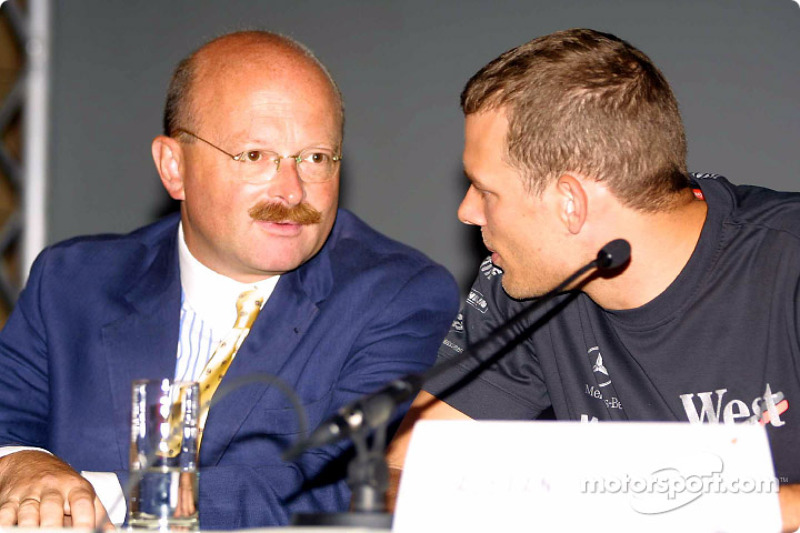 Press conference in Palais Ferstel, Vienna: Dr Erich Sedelmayer and Alexander Wurz