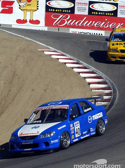 Speed Touring Car winner Jeff Altenburg leads Bill Auberlen
